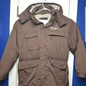 FUBU The Collection Brown Puffer Jacket 90's Coat